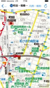 町田駅近郊避難マップ