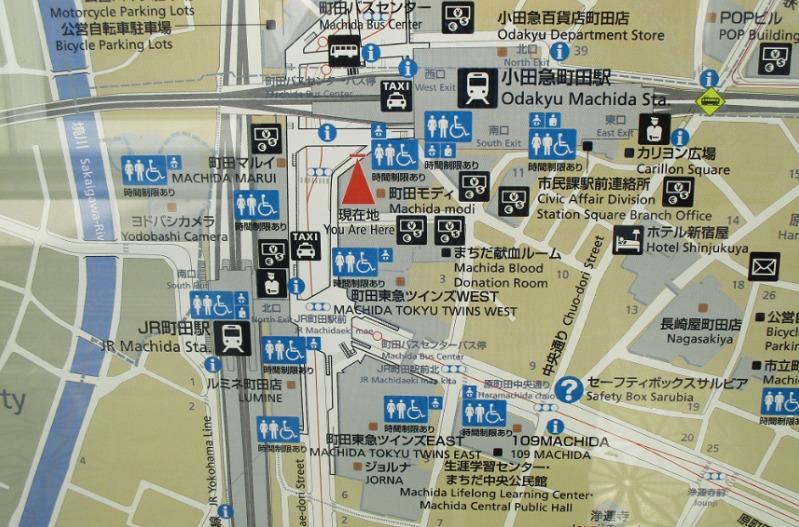 町田駅周辺の案内図