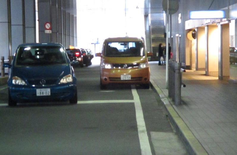 タクシー乗り場先