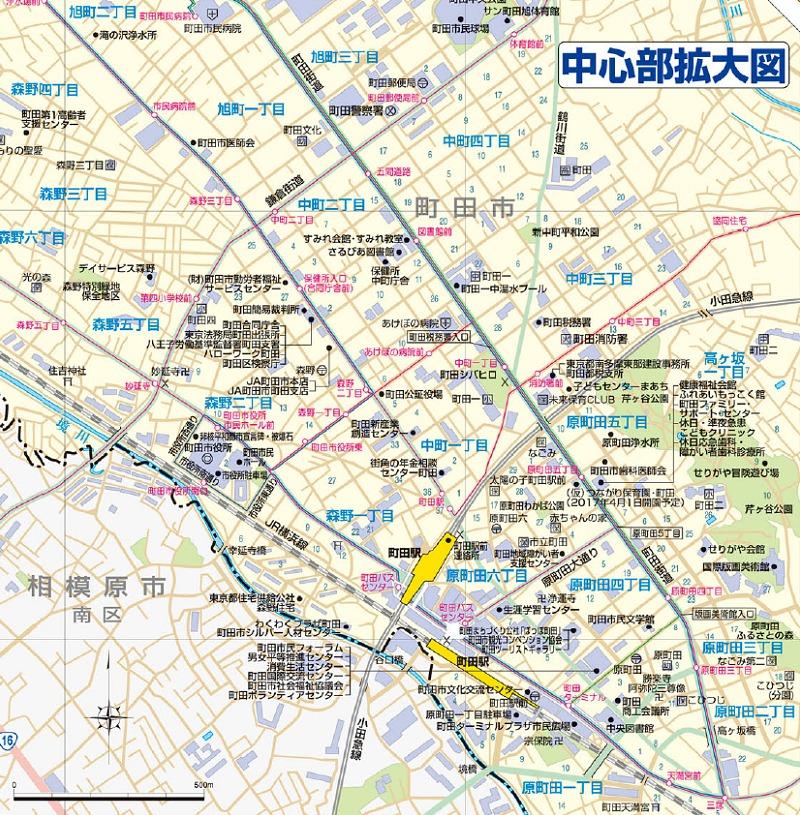 町田駅周辺拡大図
