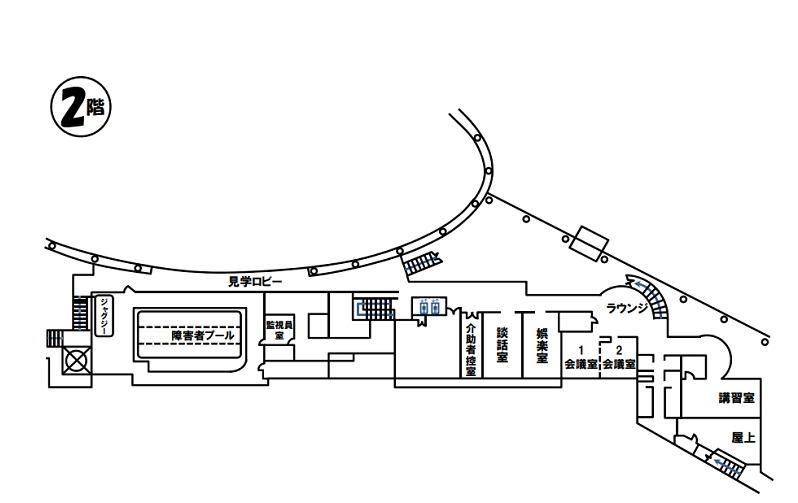 北の丘センター2F案内図
