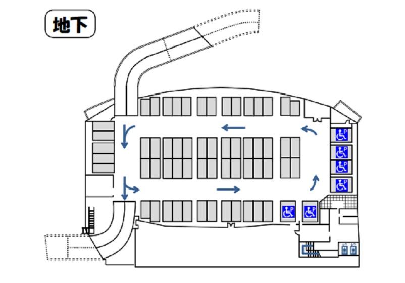 北の丘センター地下駐車場案内図