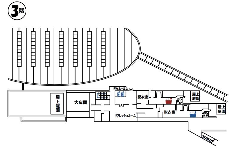 北の丘センター3F案内図