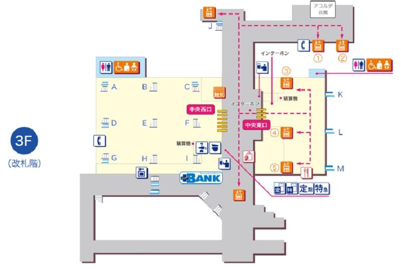 新百合ヶ丘駅平面図