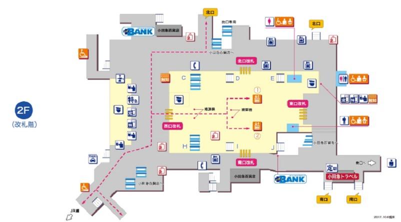 町田駅平面図