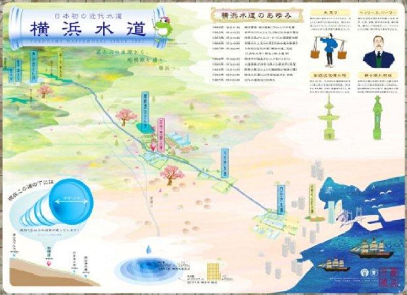 横浜水道みち案内図