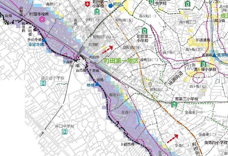 町田市洪水ハザードマップ