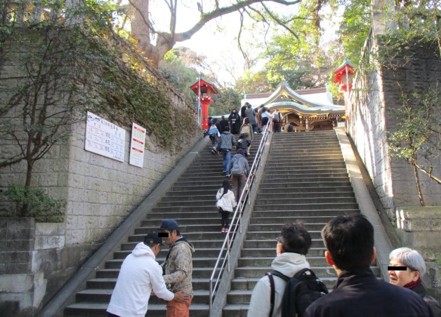 辺津宮に向かう階段