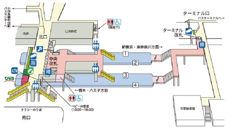 横浜線町田駅構内図