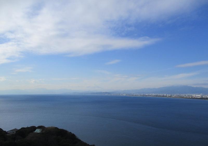 シーキャンドル屋外展望台から見る富士
