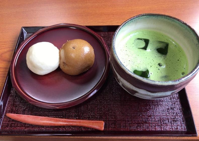女夫饅頭 抹茶セット(税込500円)