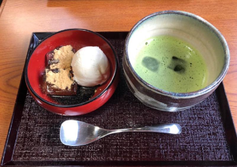 中村屋・.わらび餅と抹茶