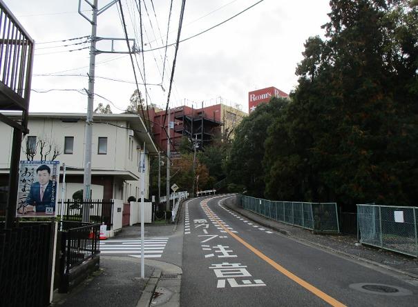 大正堂坂下の道